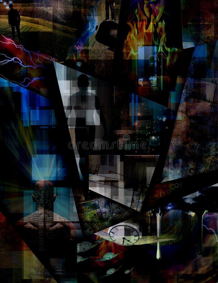 Abstracte afmetingen vector illustratie