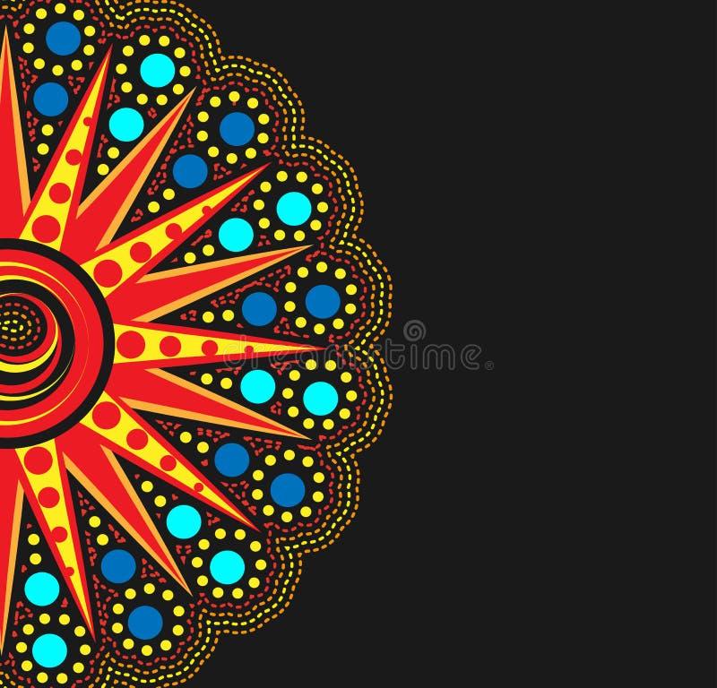 Abstracte Afrikaanse vorm vector illustratie