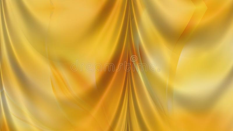 Abstracte Amber Color Satin Drapes Background royalty-vrije illustratie
