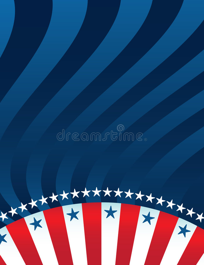 Abstracte Amerikaanse Achtergrond stock illustratie