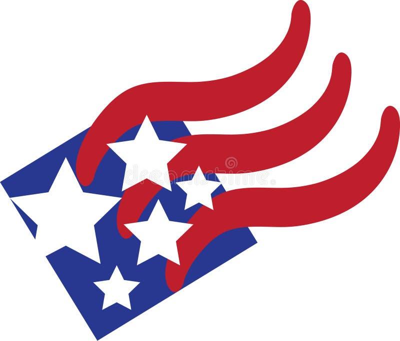 Abstracte Amerikaanse Vlag royalty-vrije illustratie