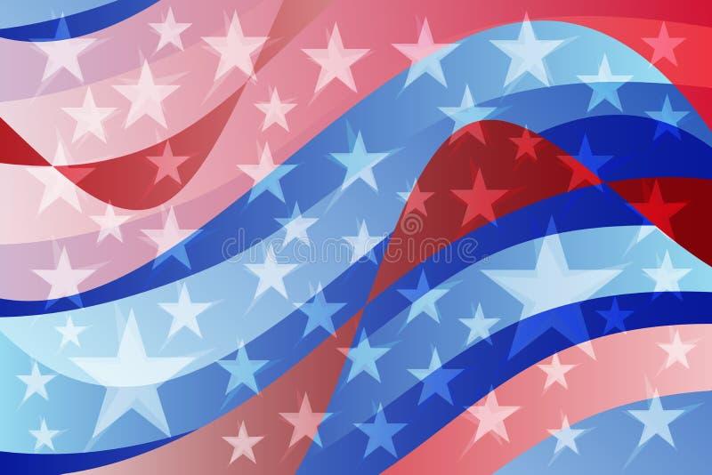 Abstracte Amerikaanse vlag golvende achtergrond stock illustratie