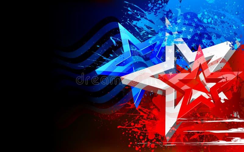 Abstracte Amerikaanse Vlagachtergrond vector illustratie