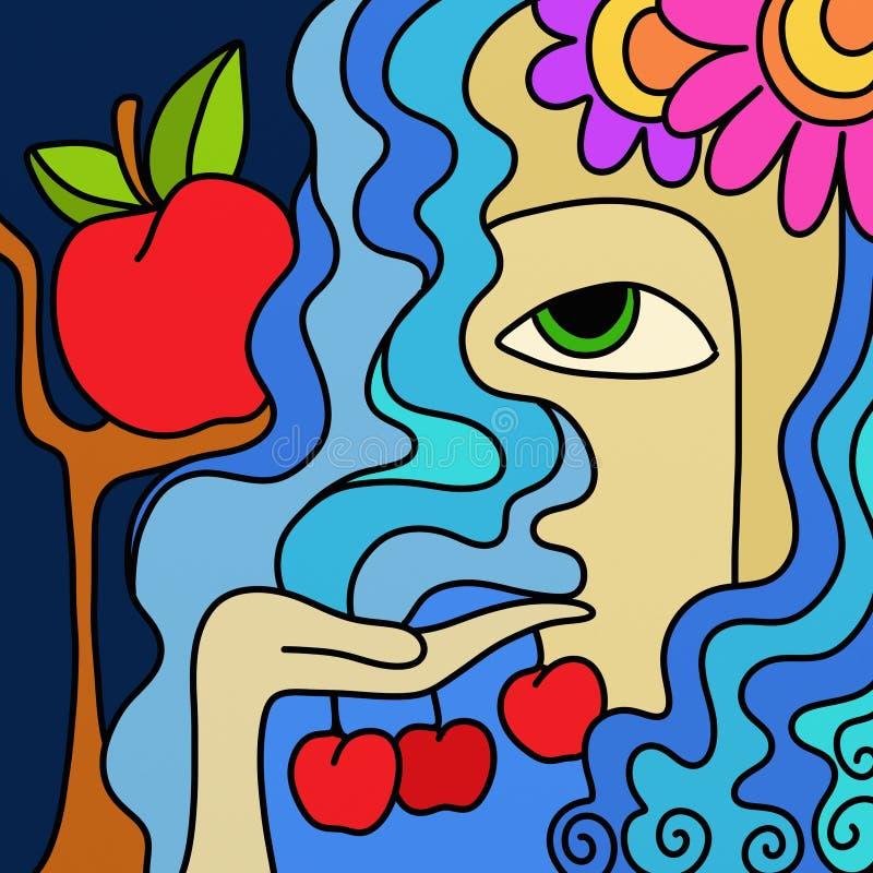 Abstracte appelen royalty-vrije illustratie
