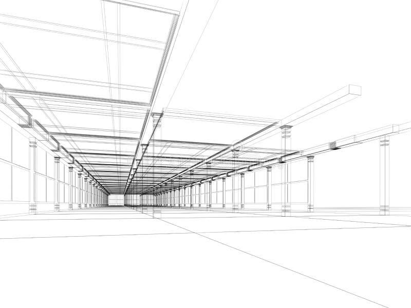 Abstracte architecturale bouw royalty-vrije illustratie