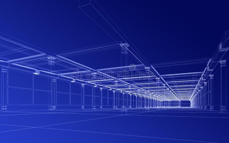 Abstracte architecturale bouw stock illustratie