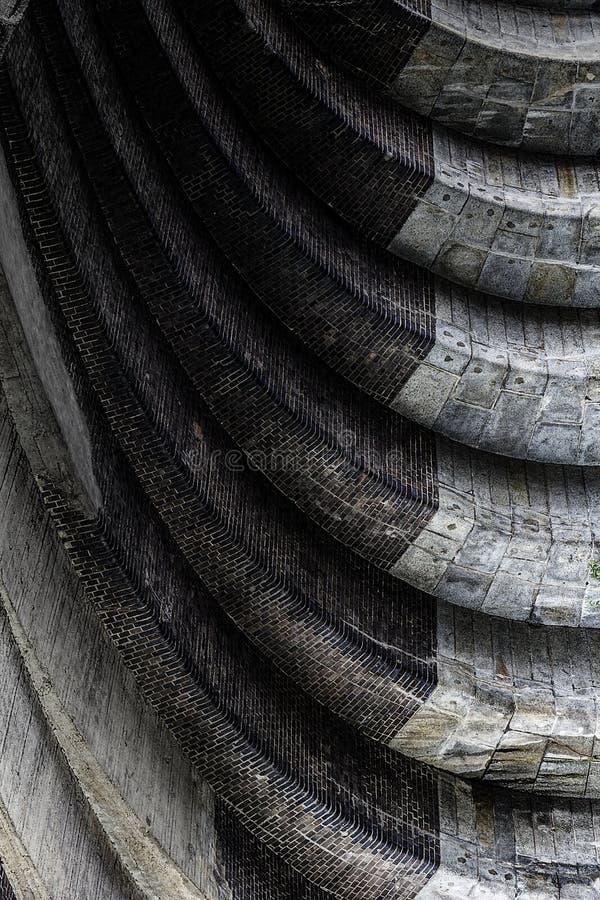 Abstracte architecturale stapstructuur royalty-vrije stock fotografie
