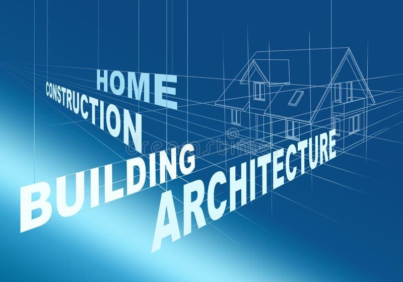 Abstracte architecturale tekening stock illustratie