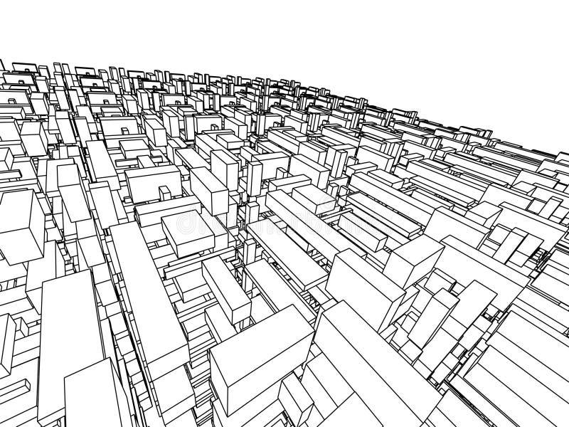 Abstracte architectuur royalty-vrije illustratie