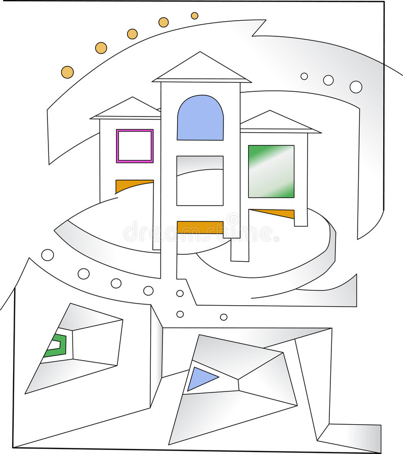 Abstracte architectuur vector illustratie