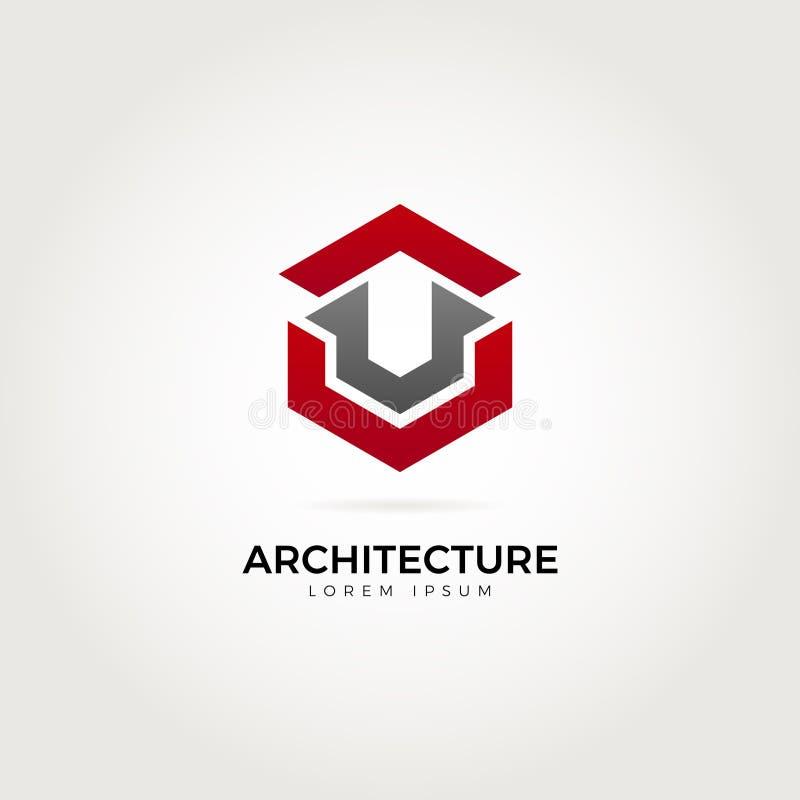 Abstracte Architectuur Logo Symbol vector illustratie