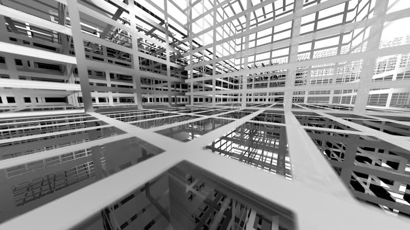 Abstracte architectuurachtergrond royalty-vrije illustratie