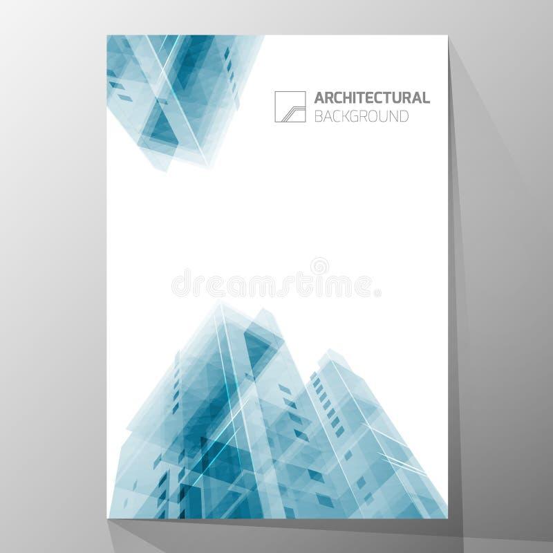 Abstracte architectuurachtergrond, het malplaatje van de lay-outbrochure, abstracte architectuursamenstelling Geometrisch ontwerp stock illustratie