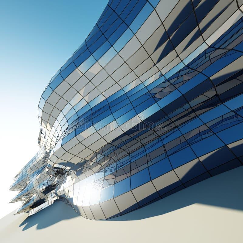 Abstracte architectuurmuur royalty-vrije stock afbeelding