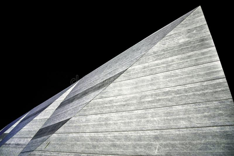 Abstracte architectuurontwerp en lijnen, Southend, Engeland stock foto