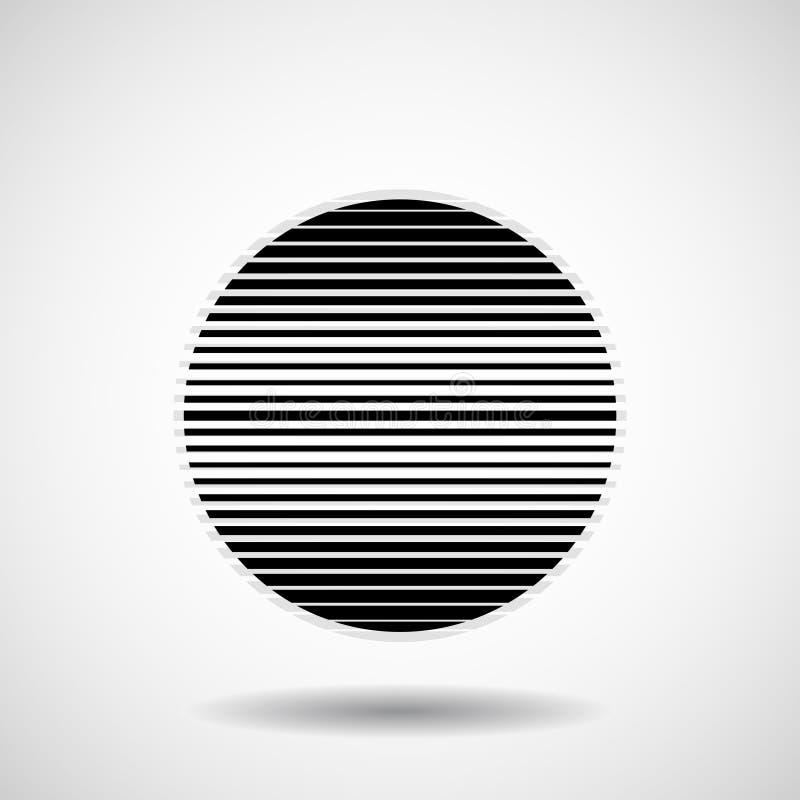 Abstracte bal van strepen Lijnen in cirkelvorm royalty-vrije illustratie