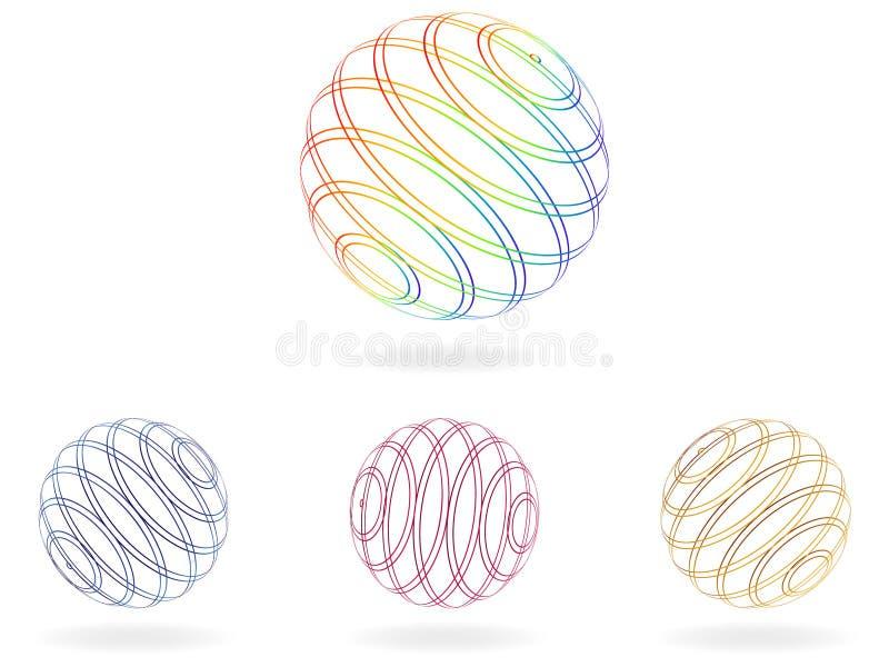 Abstracte ballen vector illustratie