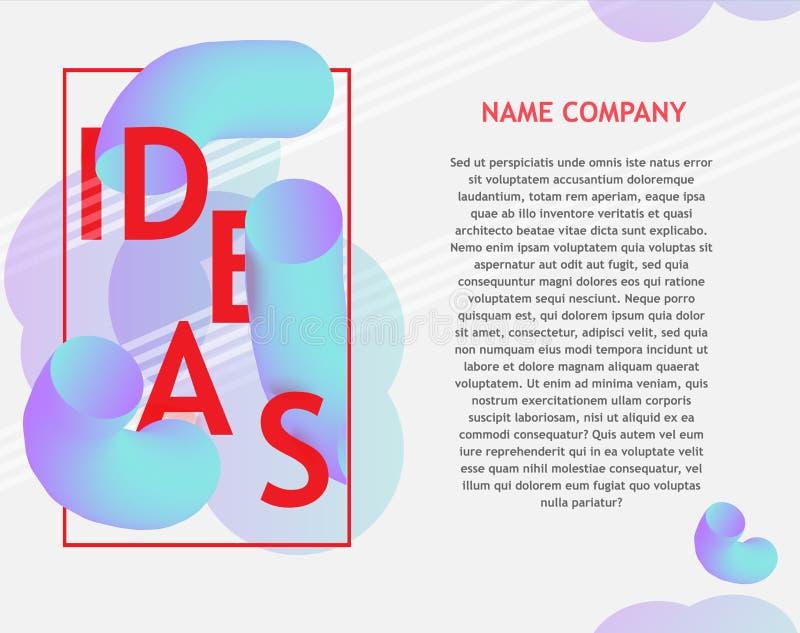 Abstracte banner met helder ontwerpteken stock illustratie
