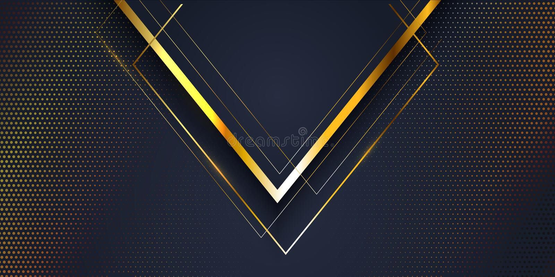 Abstracte bannerachtergrond met gouden en blauw modern ontwerp stock illustratie