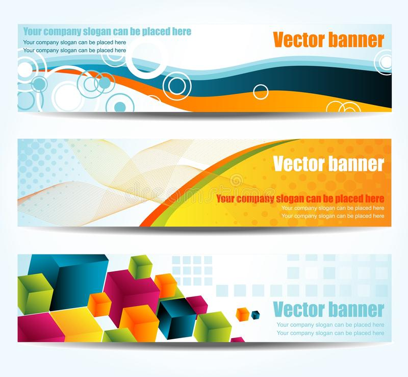 Abstracte banners stock illustratie