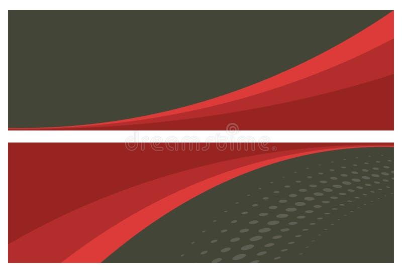 Abstracte banners (kopballen) royalty-vrije illustratie