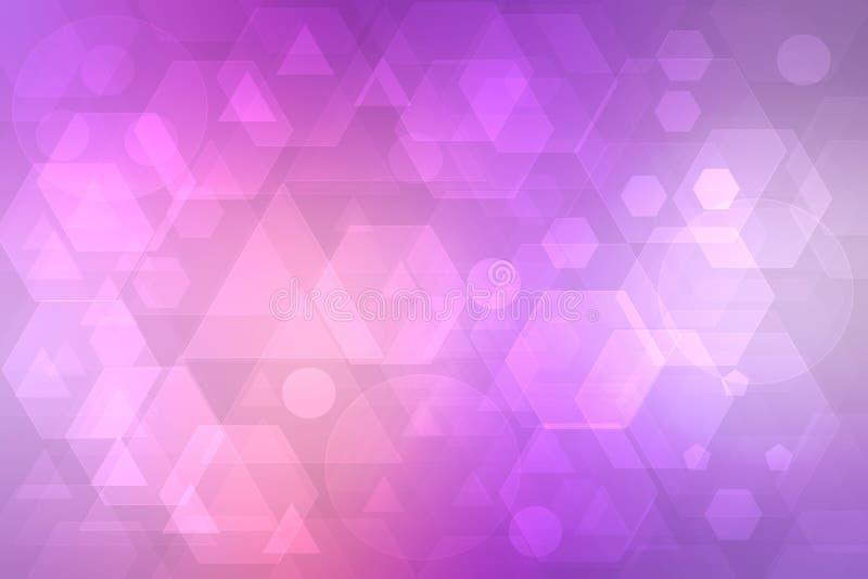 Abstracte bedrijfs en nieuwe technologieachtergrond Abstracte kleurrijke roze moderne futuristische technologie en bedrijfstextuu royalty-vrije illustratie