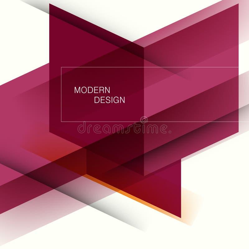 Abstracte bedrijfsachtergrond met technologielijnen Het ontwerp van de malplaatjebrochure Moderne meetkunde royalty-vrije illustratie