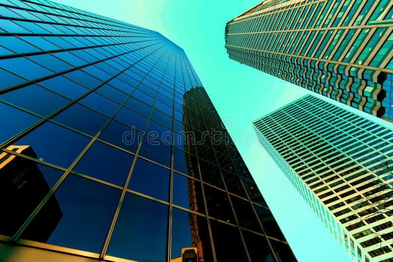 Abstracte bedrijfsbureauwolkenkrabber royalty-vrije stock fotografie