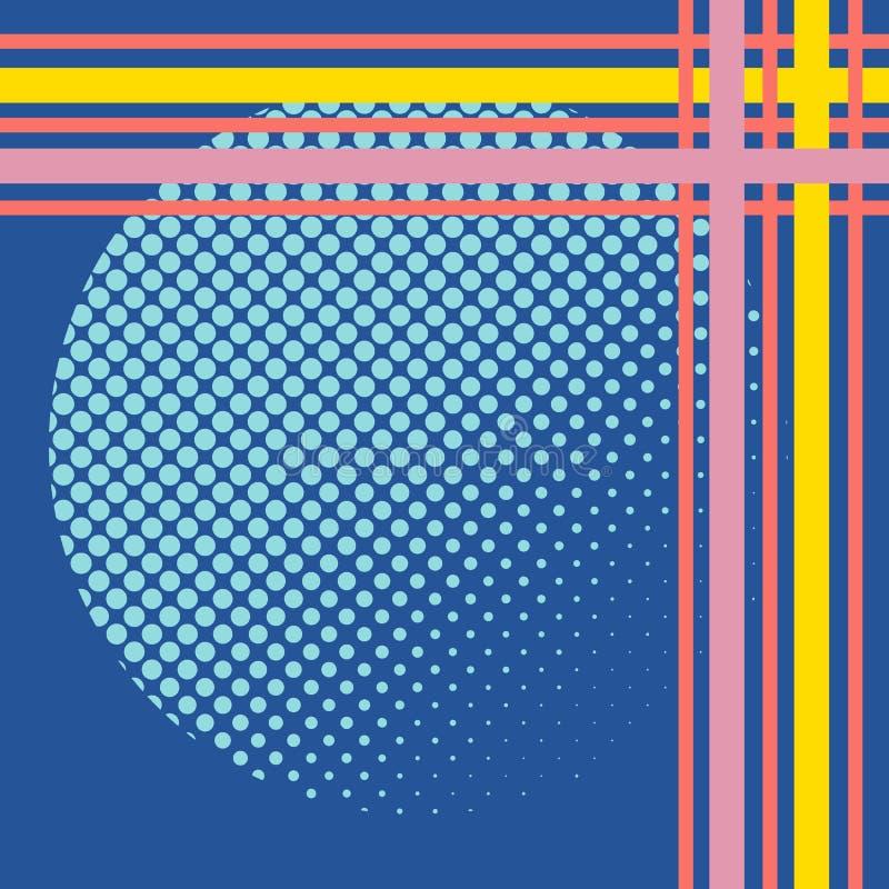 Abstracte bedrijfsillustratielijn op lichte achtergrond Digitaal marketing abstract patroon Bedrijfs ideeconcept Vlakke grafisch royalty-vrije illustratie