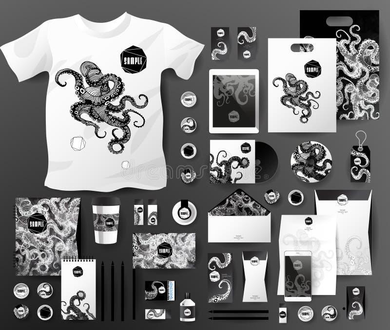 Abstracte bedrijfsreeks Collectieve identiteitsmalplaatjes royalty-vrije illustratie