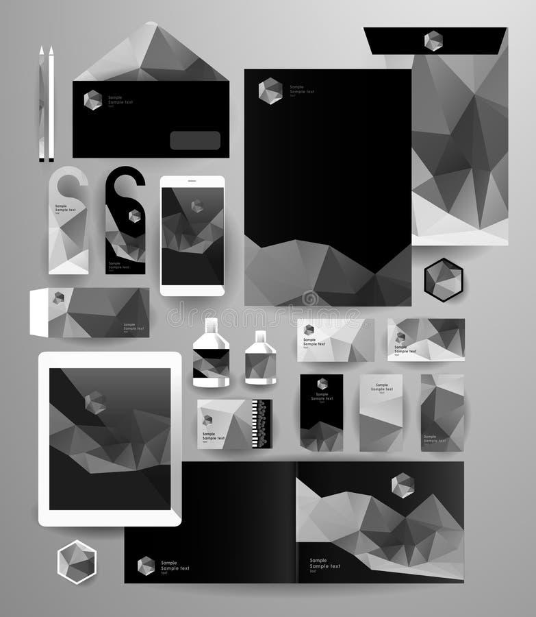 Abstracte bedrijfsreeks Collectieve Identity royalty-vrije illustratie