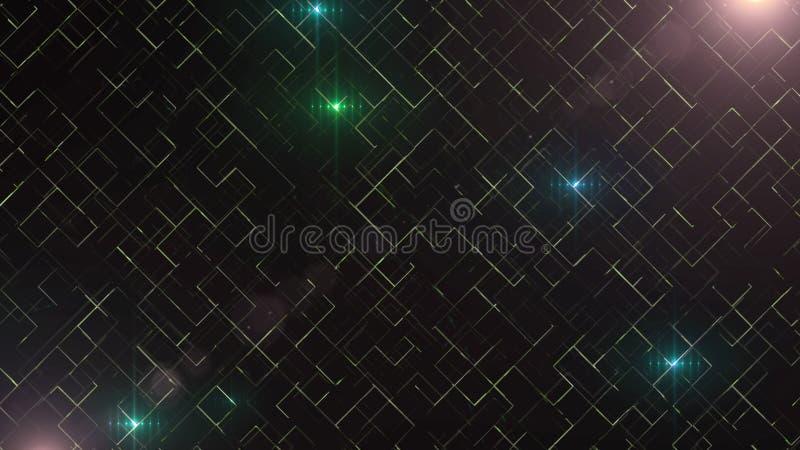 Abstracte bedrijfswetenschap of technologieachtergrond met lege ruimte voor tekst De ruimte van het exemplaar Sluit omhoog Kleurr royalty-vrije illustratie
