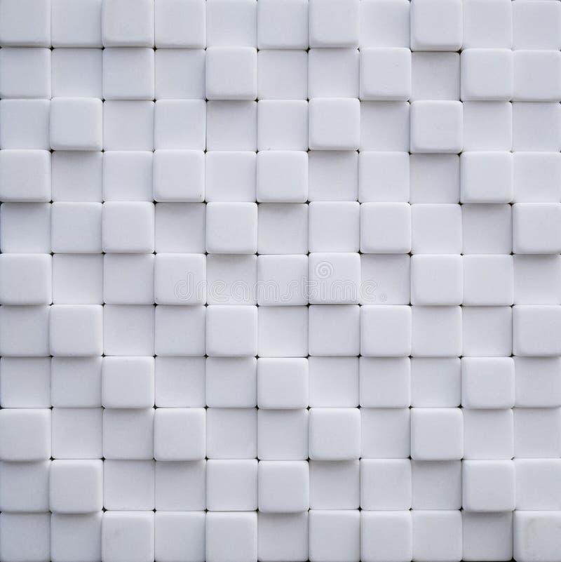 Abstracte behang of achtergrond die van witte marmeren steenkubussen wordt gemaakt royalty-vrije stock afbeelding