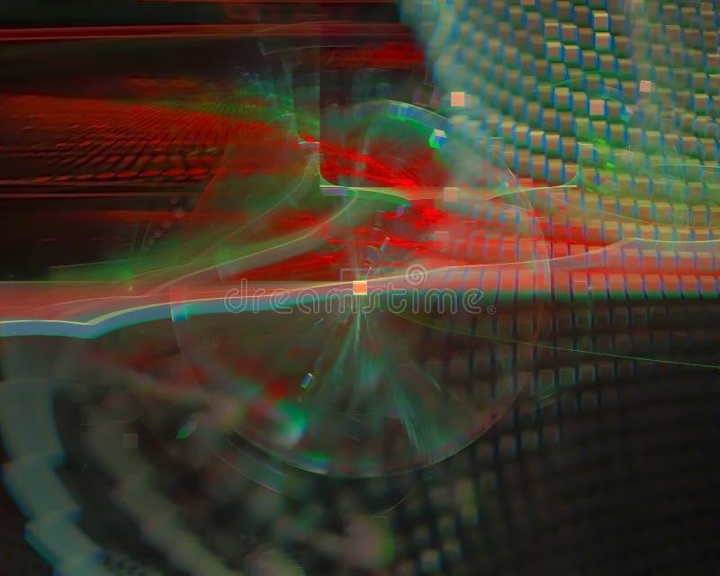 Abstracte bekledingsfractal die moderne verbeelding teruggeven glanst het patroon van de conceptenmotie moderne, surreal wetensch vector illustratie