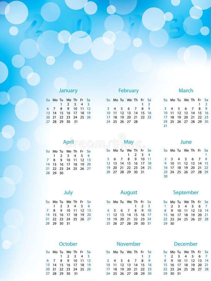 Abstracte bellen 2013 kalender royalty-vrije illustratie