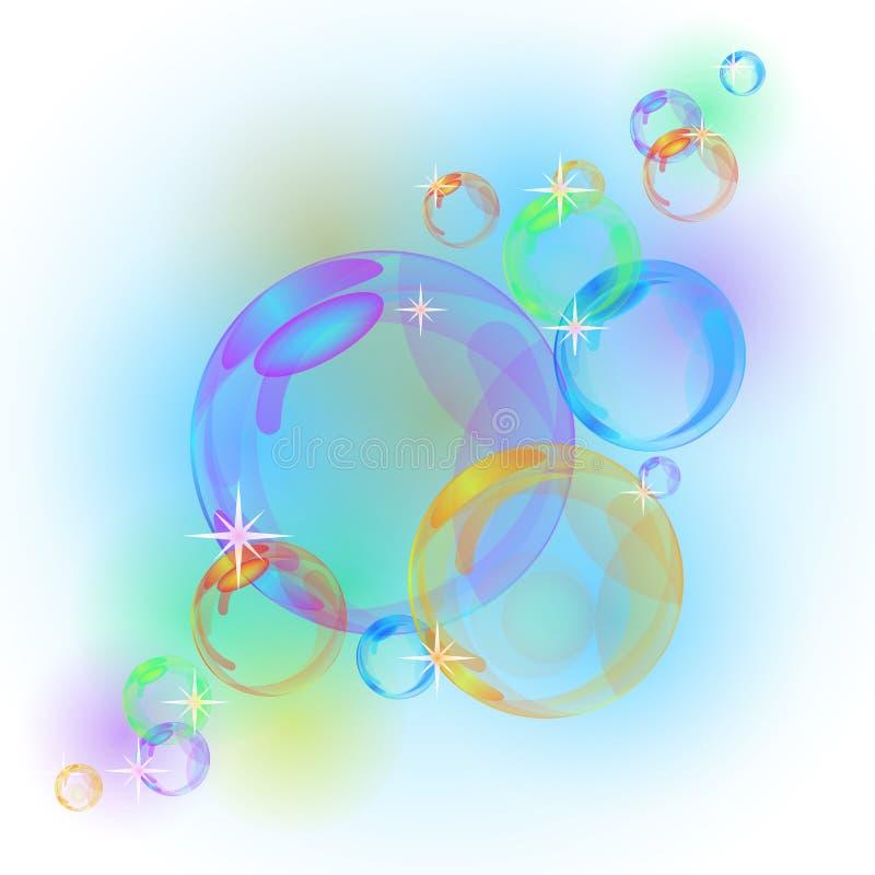 Abstracte bellen vectorachtergrond stock illustratie