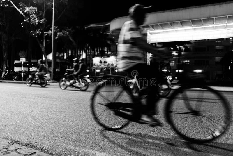 abstracte beweging van cyclobestuurder in Vietnam royalty-vrije stock foto