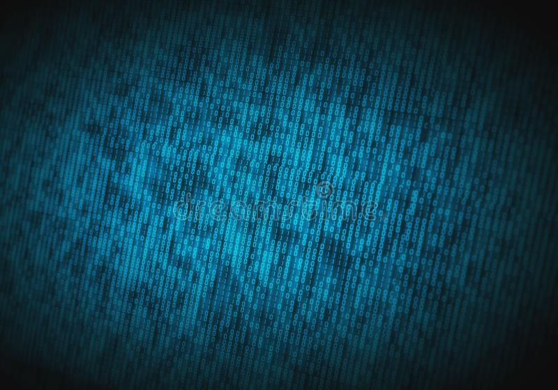Abstracte binaire code inzake het computerscherm als technologieachtergrond royalty-vrije stock foto's