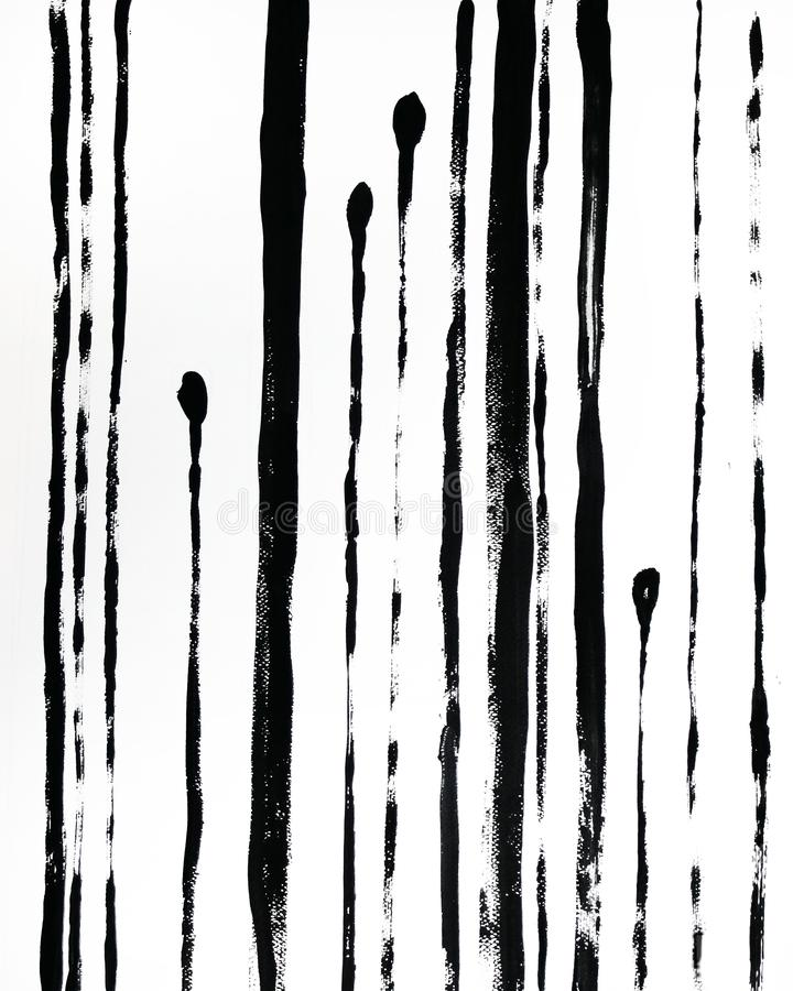 In Abstracte Binnenlandse Affiche Zwarte hand getrokken illustratie Strepen op witte achtergrond vector illustratie