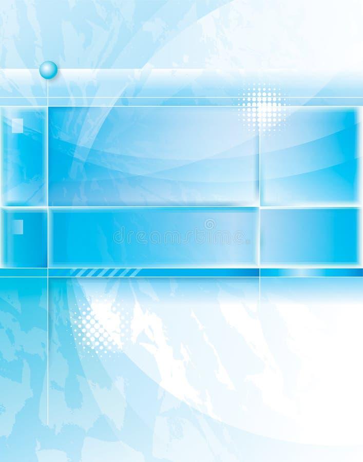 Abstracte blauwe achtergrond. royalty-vrije illustratie
