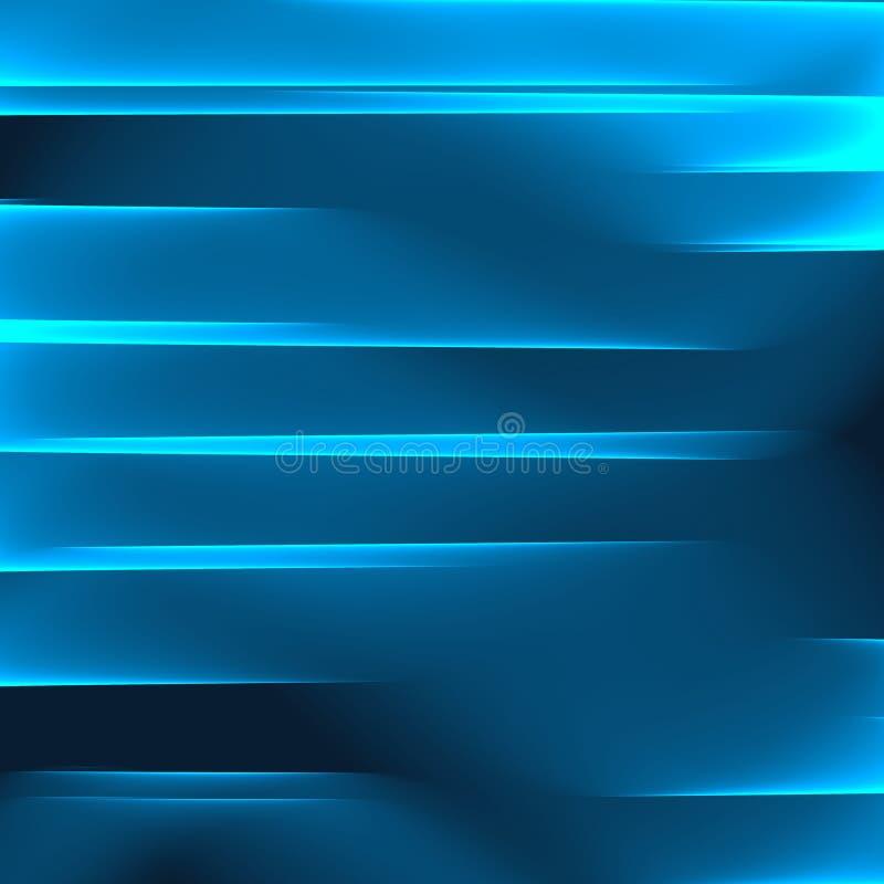 Abstracte Blauwe Achtergrond Heldere blauwe strepen Geometrisch patroon in blauwe kleuren vector illustratie