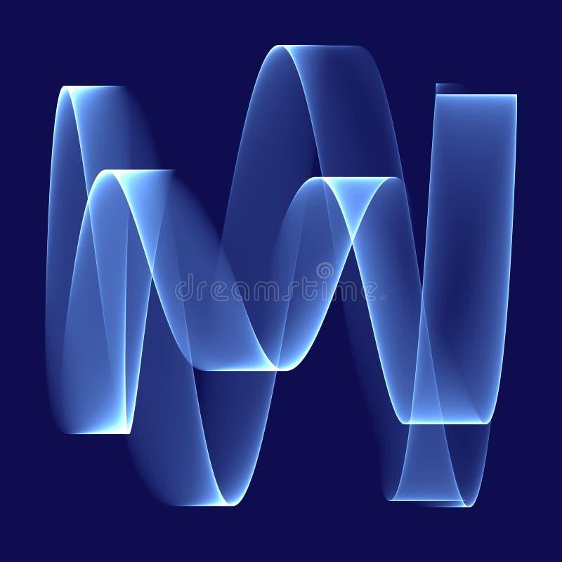 Abstracte Blauwe Achtergrond Heldere blauwe strook op de diepe blauwe achtergrond Geometrisch patroon in blauwe kleuren stock illustratie