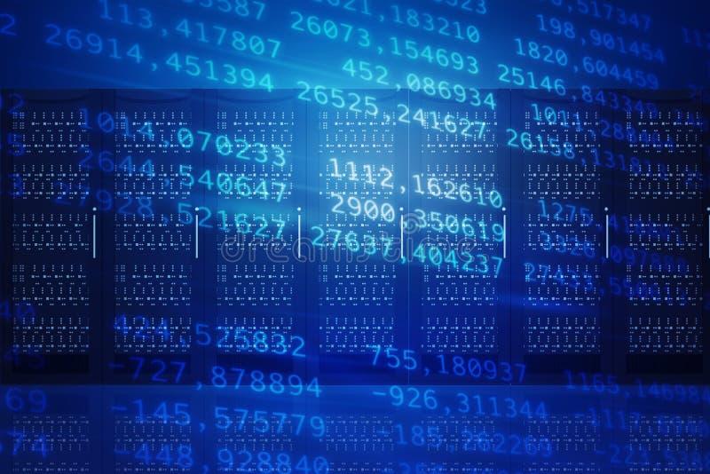 Abstracte blauwe achtergrond met aantallen royalty-vrije stock foto's