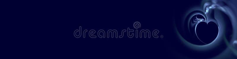 Abstracte blauwe achtergrond met fractal hart royalty-vrije illustratie