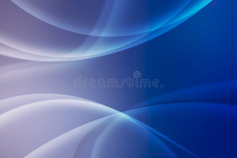 Abstracte blauwe achtergrond met het snijden van lijnen, behang stock illustratie