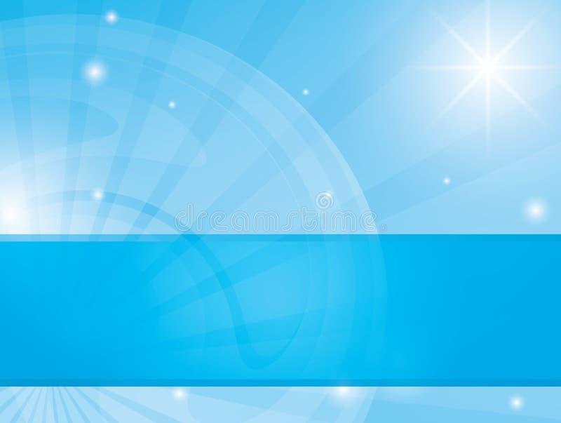 Abstracte blauwe achtergrond met stralende stralen - eps royalty-vrije illustratie