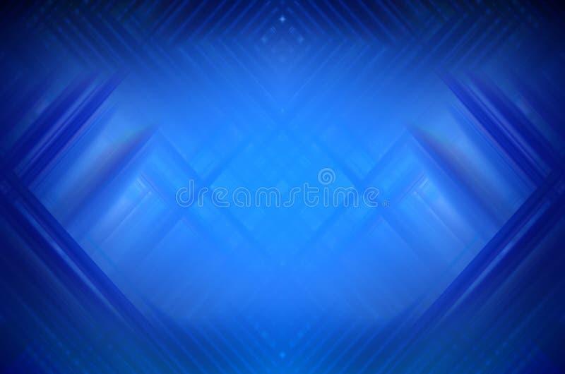 Abstracte blauwe achtergrond met vage lijnen stock illustratie