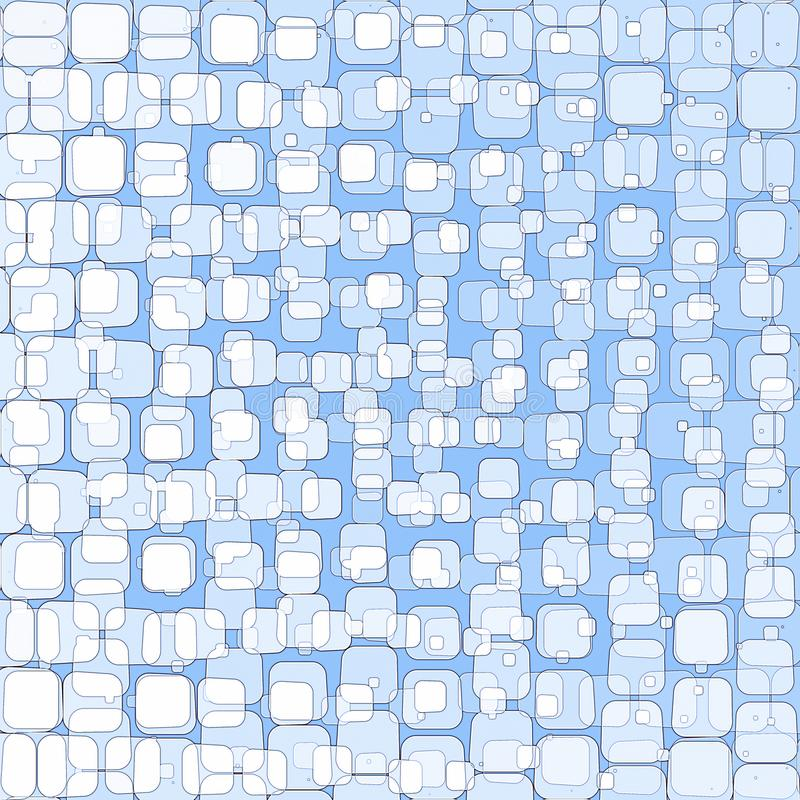 Abstracte blauwe achtergrond met vierkanten stock illustratie