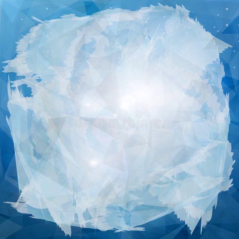 Abstracte blauwe achtergrond met vorst stock fotografie