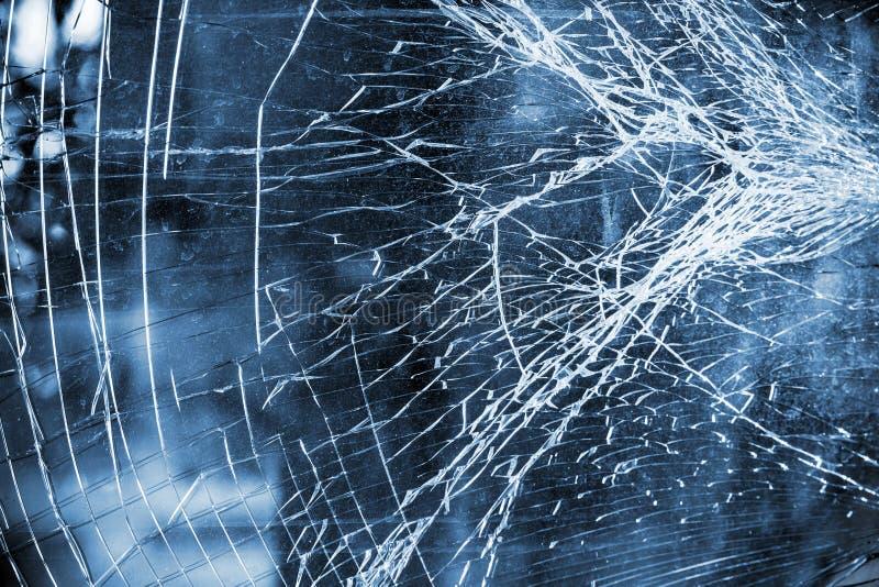 Abstracte blauwe achtergrond met vuil gebroken glas royalty-vrije stock foto's